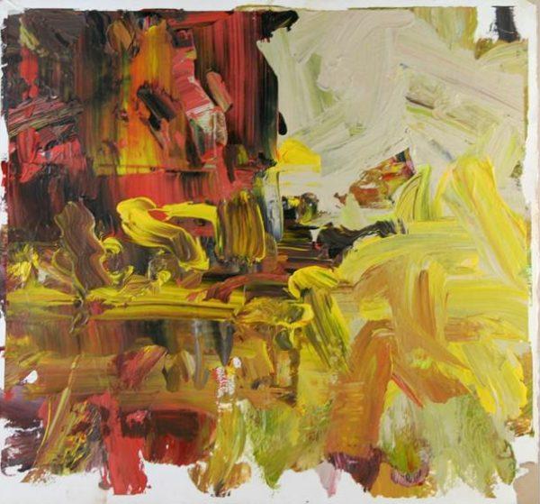 Burning Bush Acrylic Painting by John Down